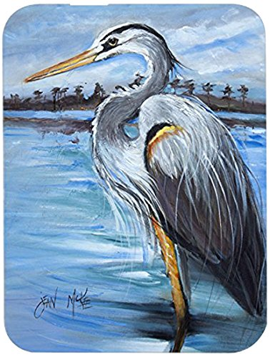 Caroline's Treasures JMK1148LCB Blue Heron Gazing Glass Cutting Board Large, 12H x 16W, multicolor Caroline's Treasures JMK1148LCB Blue Heron Gazing Glass Cutting Board Large