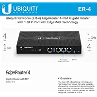 Ubiquiti Networks EdgeRouter (ER-4) 4-Port Gigabit Router with 1 SFP Port with EdgeMAX Technology