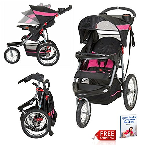 Baby Pram Stroller Easy Fold 3 Wheel Best Designer Pushchairs Jogger For Newborn Girl Carriage And eBook By NAKSHOP by NAKSHOP