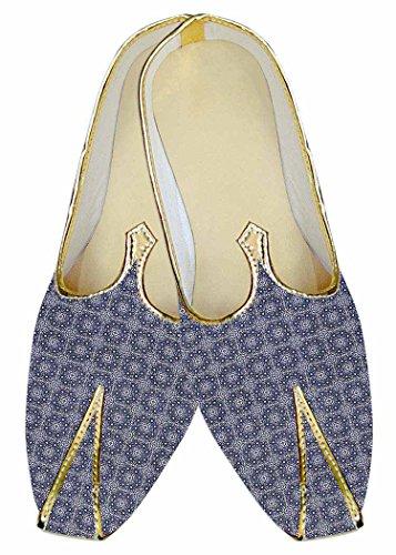 INMONARCH Mens Sky Blue Wedding Shoes Circle Design MJ015184 p8hp6uCHPC