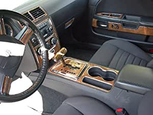 dodge challenger interior burl wood dash trim kit set 2008 2009 2010 automotive. Black Bedroom Furniture Sets. Home Design Ideas