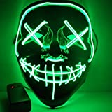 VT BigHome Halloween Mask LED Light Up Funny Masks The Purge Election Year Great Festival Cosplay Costume Supplies Party Masks Glow In Dark