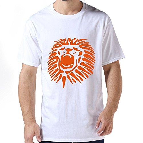 Runy Mens Roaring Lion HeadVector Design Tee Shirts Size S ColorWhite