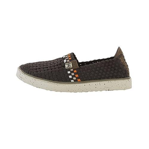 Dude Shoes - Mocasines de Tela sintética para hombre Marrón marrón: Amazon.es: Zapatos y complementos