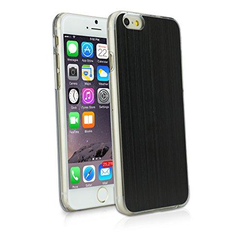 BoxWave Coque rigide pour Apple iPhone 6 en aluminium brossé Ultra-fine emboîtable, Coque en aluminium brossé avec dos (Noir)