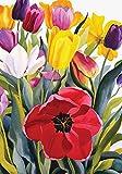 Toland Home Garden Tulip Garden 28 x 40 Inch Decorative Colorful Spring Summer Flower Floral House Flag