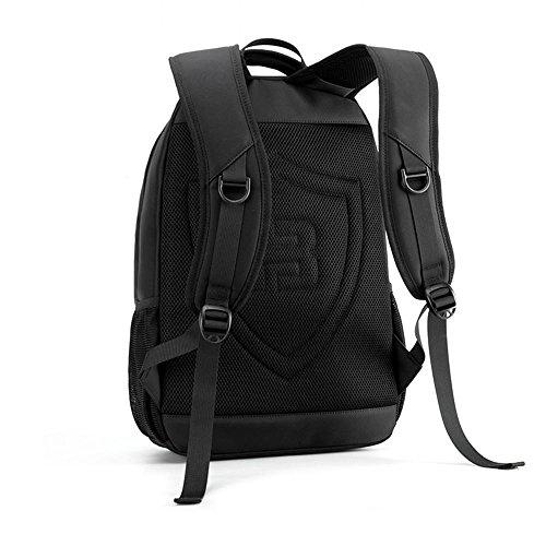 NIHE bolso de hombro del negocio de la versión coreana de los hombres negros de las mochilas de viaje simples ocio de los hombres mochila