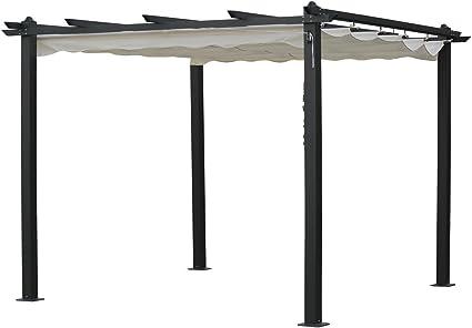 habitatetjardin Pergola de Aluminio Monica - 3 x 3 x Altura .2.2 m ...