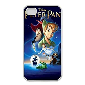 Durable Rubber Cases iPhone 4,4S White Cell phone Case Bgvrf Peter Pan Protection Cover