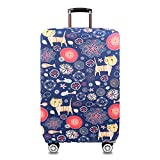 Youth Union Travel Luggage Cover Fit for 18-32 Inch Luggage (XL(29-32 inch luggage), Cartoon Cat) For Sale