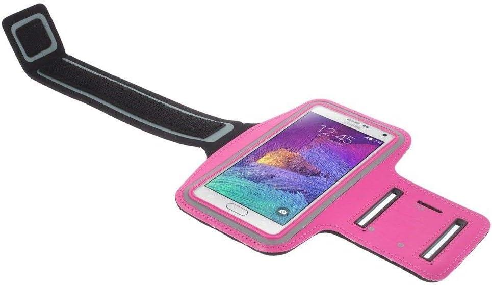 DFV mobile Black Neoprene Arm Cover Armband Sport Running Bike Walking Cycling Gym for Motorola Moto E4 Plus MT6737