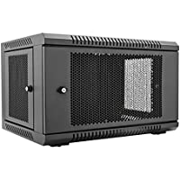 V7 RMWC6U-1N 6U Wall Mount Rack Cabinet Enclosure (Fully assembled, vented door, adjustable mounting rails, cold rolled steel, 5 year warranty)