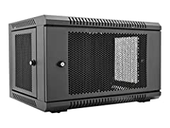 The 6U rack wall mount enclosure from V7 is the perfect solution to install, secure and organize rack equipment in classrooms, retail locations, network closets and other locations with limited space. The vented, locking doors help to keep eq...