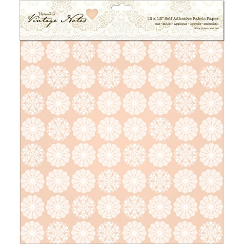 (Papermania Vintage Notes Self-Adhesive Fabric Paper 12