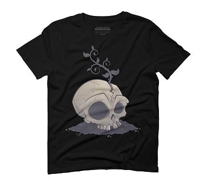 Skull Garden Men's Small Black Graphic T-Shirt - Design By Humans