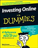 Investing Online for Dummies, Matt Krantz and Kathleen Sindell, 0470228024