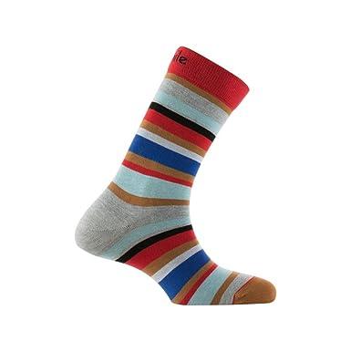 de36020627f Achile - Mi-chaussettes rayées en coton - couleur - Rouge - Pointure - 39-46   Amazon.fr  Vêtements et accessoires