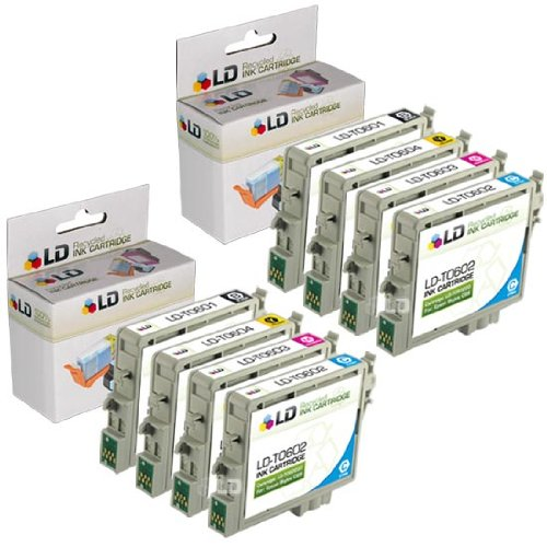 LD Remanufactured Ink Cartridge Replacement for Epson 60 T060 (2 Black, 2 Cyan, 2 Magenta, 2 Yellow, ()