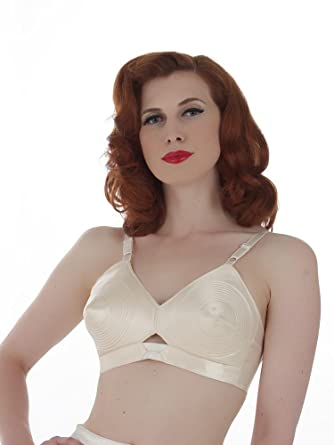 c9f22dc008 What Katie Did Padded Satin Bullet Bra at Amazon Women s Clothing ...