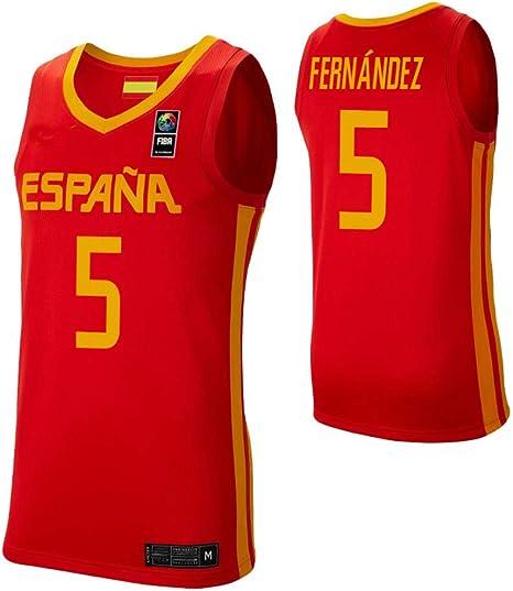 K&Q Camiseta Rudy Fernández Selección Española de Baloncesto Rojo ...