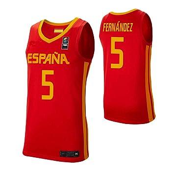 K&Q Camiseta Rudy Fernández Selección Española de Baloncesto Rojo 2019 Hombre