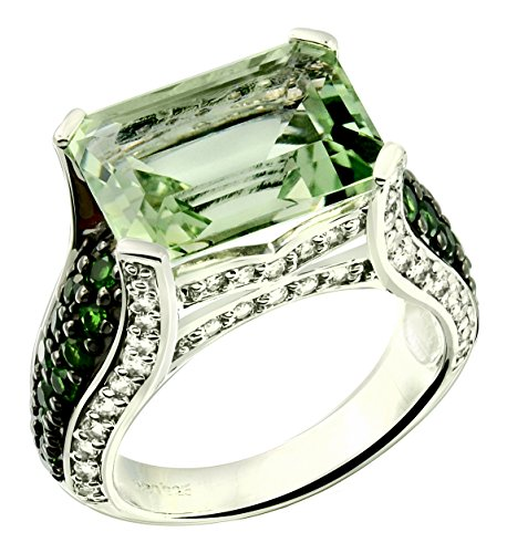 8.65 Carats Green Amethyst wit