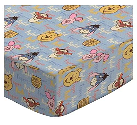 SheetWorld Fitted Crib / Toddler Sheet - Pooh & Friends - Made In USA