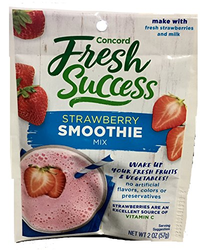 Concord Foods Strawberry Smoothie Mix, 2-Ounce Packages (VALUE Case of 18 Packages)
