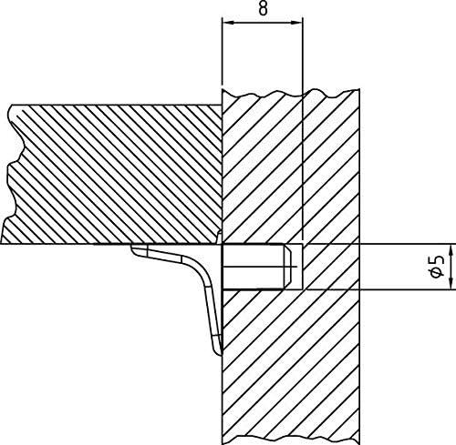 Mini-Bodentr/äger Zinkdruckguss mit einem Zapfen-Durchmesser 5mm 20 St/ück vernickelt