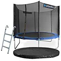 Kinetic Sports Outdoor Gartentrampolin Komplettset Ø 305 cm Sicherheitsnetz...