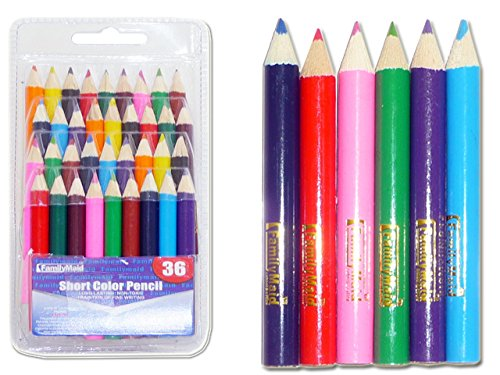 COLOR PENCIL SHORT 36PCS DOB B , Case of 144 by DollarItemDirect