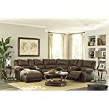 Nantahala Contemporary Coffee Color Sectional Sofa