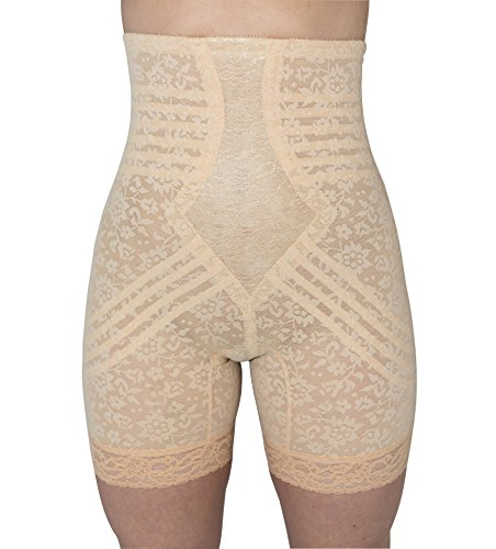 - Rago Women's Hi Waist Long Leg Shaper, Beige, 2X-Large (34)