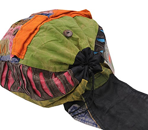 Recycled Hippe Hobo Bohemian Razor Cut Bag Backpack Hand Made Nepal (Backpack 2) by Lungta Imports (Image #2)