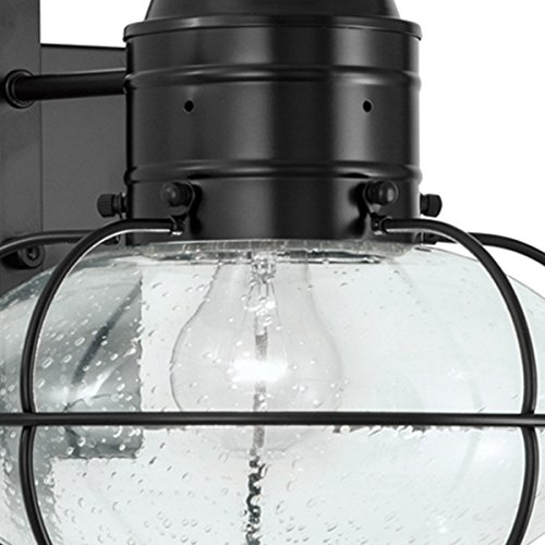 - Norwell Lighting 1512 Medium Wall Mount Outdoor One Light Classic Onion (Black w/Seedy Glass)