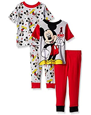 Disney Baby Boys' Mickey Mouse Cotton Pajama Set