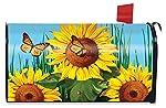 Briarwood Lane Sunflower Field Summer Magnetic Mailbox Cover Butterflies Floral Standard