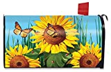 Briarwood Lane Sunflower Field Summer Large Magnetic Mailbox Cover Butterflies Floral Oversized