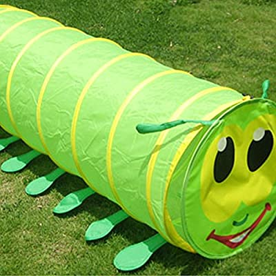 Sunny Patch Giddy Crawl Through Tunnel, 5 Feet Long Play Tent for Kid Pop up Tunnel for Kids Toddlers Babies Infants & Children Gift Indoor & Outdoor Tube: Toys & Games