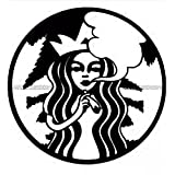 Starbucks Weed Die Cut Vinyl Car Decal Window Sticker