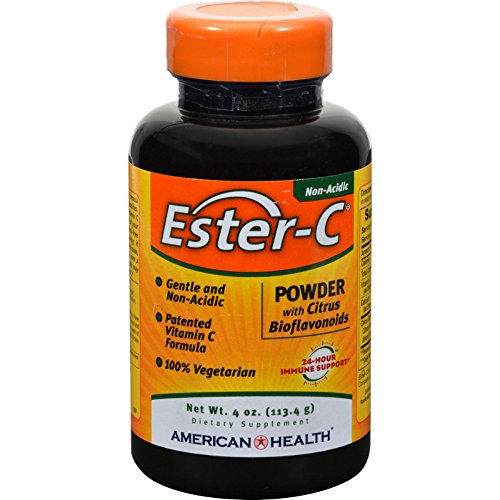 4 Pack of American Health Ester-C Powder with Citrus Bioflavonoids - 4 oz - - - by American Health