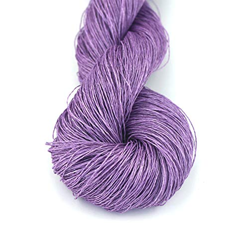 Lotus Yarns 100% Natural Linen Lace Weight Hand Knitting Crochet Yarn 50g/Hank for Summer Fashion Garments Baby Clothes Soft and Cool (13)
