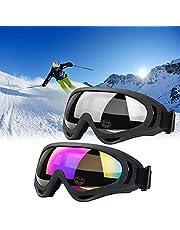 JTENG Skibril Veiligheidsbril Motocross goggle sportbril sneeuwbril wintersport bril winddicht stofbescherming vliegeniersbril snowboardbril sneeuwbril skibril