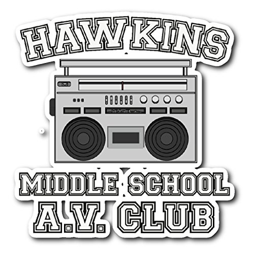 Weezag Hawkins Middle School Sticker Car Bumper Decal Stickers -