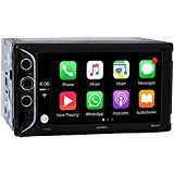 Jensen VX5228 6.2 LED Backlit LCD Digital Multimedia Touch Screen Double DIN Car Stereo with Built-In Apple CarPlay, Bluetooth & USB Port