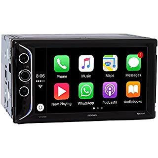 Sale Jensen VX5228 6.2' LED Backlit LCD Digital Multimedia Touch Screen Double DIN Car Stereo with Built-in Apple CarPlay Bluetooth & USB Port