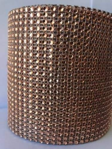 24 Row,4.5 inches Wide 10 Yard Acrylic Rhinestone Diamond Ribbon wrap, DIY, Wedding, Homecoming, Prom, Events, Arts & Crafts and Special Occasions Rose Gold