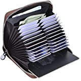 Easyoulife Genuine Leather Credit Card Holder Case RFID Travel Passport Wallet (New Coffee)