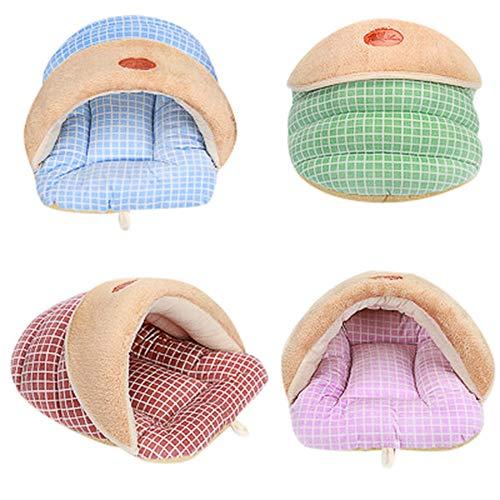- Outtop(TM) Pet Dog Cat Mat,Puppies Warm Soft Nest Kennel Bed Slipper House Sleeping Bag Mat Pad Tent (S, Mint Green)