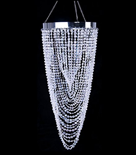 Modern Sparking Acrylic Beaded Twisted Chandelier Light Shade Fixture Pendant Ceiling Lamp for Wedding and Home Decoration H21.7 x D8.7